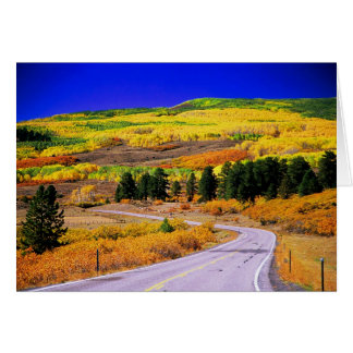 Tarjeta escénica de la caída de Utah del camino ap