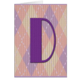 Tarjeta (espacio en blanco) - D inicial
