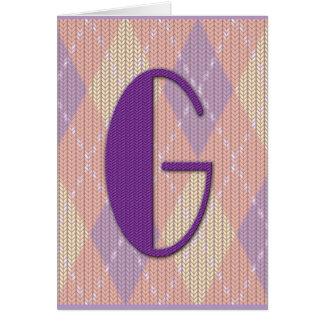 Tarjeta (espacio en blanco) - G inicial