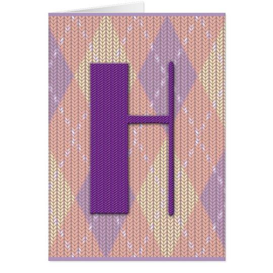 Tarjeta (espacio en blanco) - H inicial
