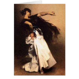 Tarjeta española del bailarín de Sargent del canta