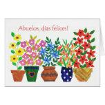 Tarjeta española del día de los abuelos del saludo