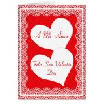 Tarjeta española del el día de San Valentín para m