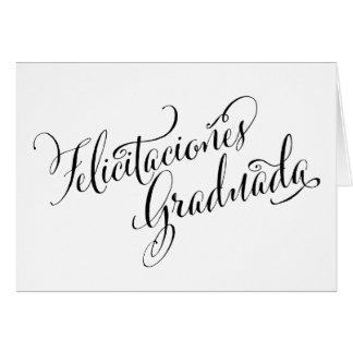 Tarjeta española el | Felicitaciones Graduada del