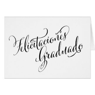 Tarjeta española el | Felicitaciones Graduado del