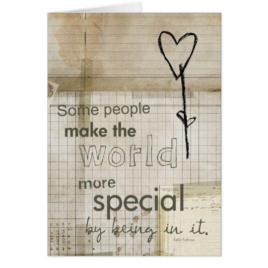 tarjeta especial de la persona del doodle