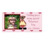 Tarjeta especial del oso de la tarjeta del día de  tarjetas personales con fotos