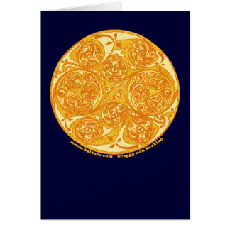 Tarjeta espiral céltica, diseño de la mandala de S