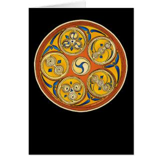 Tarjeta espiral céltica, diseño de Lughnasadh