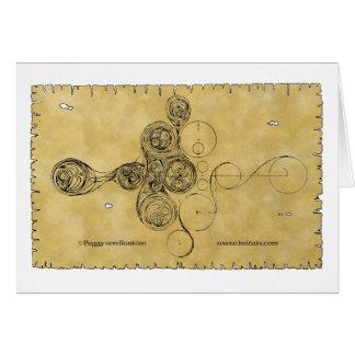 Tarjeta espiral céltica, diseño del manuscrito