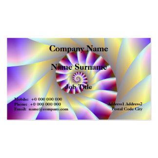 Tarjeta espiral púrpura y blanca roja tarjetas de visita