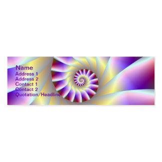 Tarjeta espiral púrpura y blanca roja tarjetas de visita mini
