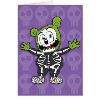 Tarjeta esquelética de Gummibär Halloween