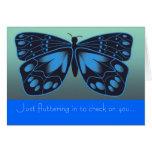 Tarjeta estilizada de la amistad de la mariposa