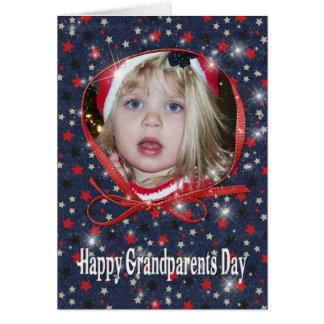 Tarjeta estrellada de la foto del día de los abuel