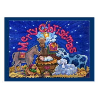Tarjeta/etiqueta del recinto del navidad tarjetas de visita grandes