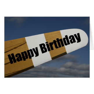 Tarjeta experimental del feliz cumpleaños del aero