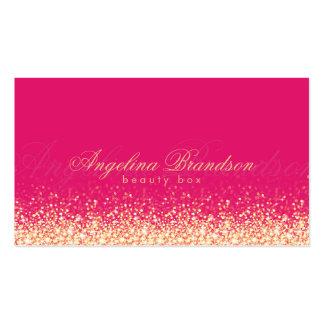 Tarjeta experta del rosa del damasco de la belleza tarjetas de visita