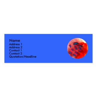 Tarjeta extraña del perfil del planeta tarjetas de visita mini