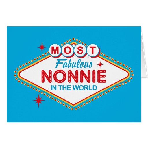 Tarjeta fabulosa de Las Vegas Nonnie