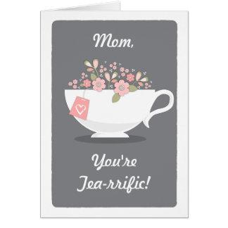 Tarjeta fabulosa del día de madre del amante del t