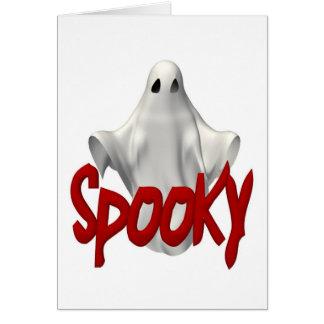 Tarjeta fantasmagórica de Halloween