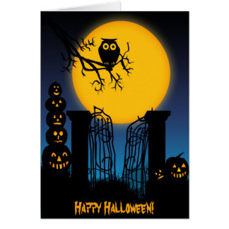 Tarjeta fantasmagórica de Halloween 4