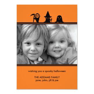 """Tarjeta fantasmagórica de la foto de Halloween de Invitación 5"""" X 7"""""""