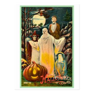 Tarjeta fantasmagórica del kitsch retro del postal