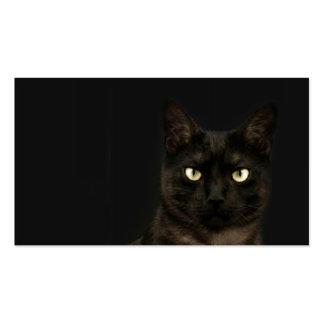 tarjeta fantasmagórica del perfil del gato tarjetas de visita