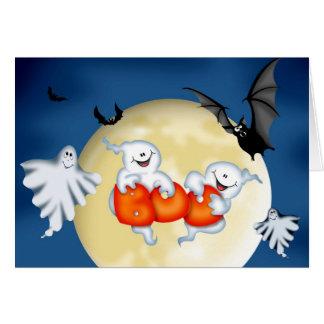 Tarjeta fantasmal de Halloween del abucheo