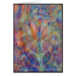 Tarjeta fantástica del fractal 1: Plantilla