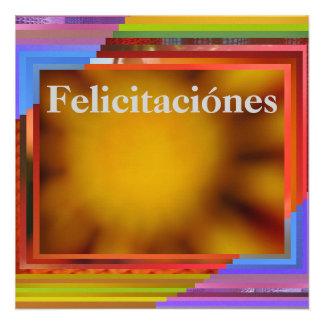 Tarjeta - Felicitaciónes - arte abstracto Comunicado