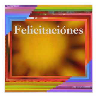 Tarjeta - Felicitaciónes - arte abstracto Invitación 13,3 Cm X 13,3cm