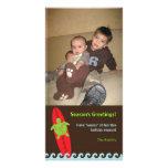 Tarjeta feliz 2 de la foto del navidad de Honu que Tarjetas Fotográficas Personalizadas