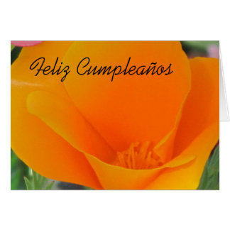 Tarjeta - Feliz Cumpleaños - Amapola de California