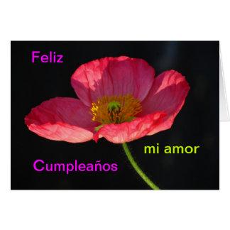 Tarjeta - Feliz Cumpleaños, amor del MI