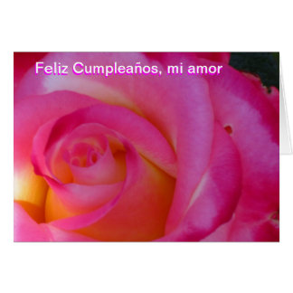 Tarjeta - Feliz Cumpleaños, amor del MI - Rosa Ros