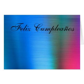 Tarjeta - Feliz Cumpleaños - Azul