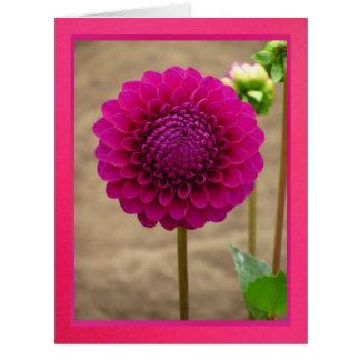Tarjeta - Feliz Cumpleaños - Dalia Púrpura Card