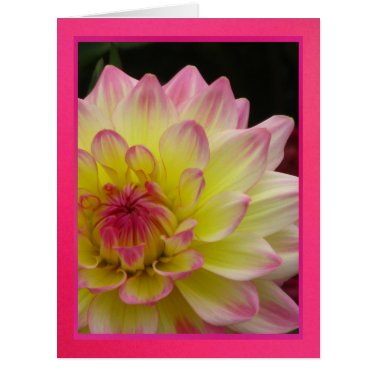 Tarjeta - Feliz Cumpleaños - Dalia Rosa-Amarilla Large Greeting Card