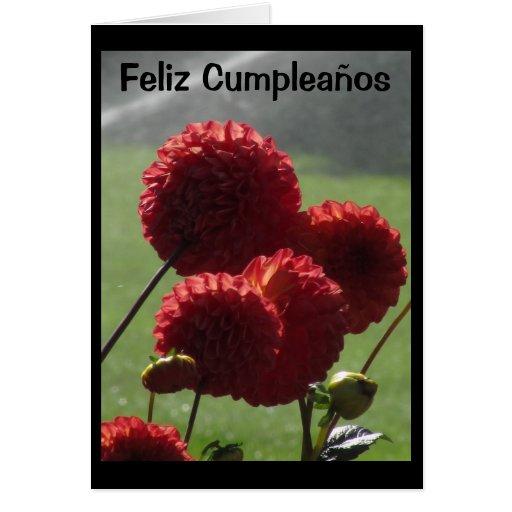 Tarjeta - Feliz Cumpleaños - Las Dalias Rojas