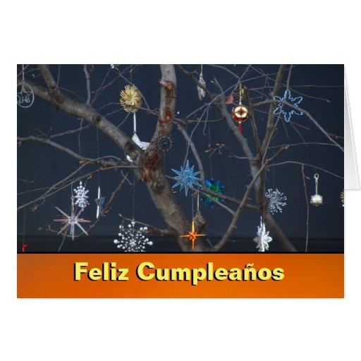 Tarjeta - Feliz Cumpleaños - móvil Viento de Árbol