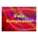 Tarjeta - Feliz Cumpleaños - multicolora