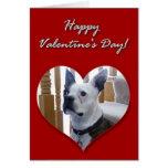 Tarjeta feliz de Boston Terrier del el día de San