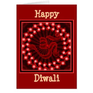 Tarjeta feliz de Diwali