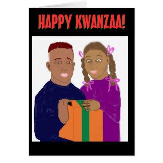Tarjeta feliz de Kwanzaa