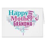 Tarjeta feliz de la abuela del día de madres