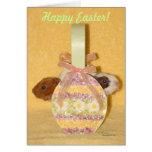 Tarjeta feliz de la cesta de Pascua de los