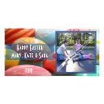 Tarjeta feliz de la foto de Pascua Tarjetas Con Fotos Personalizadas